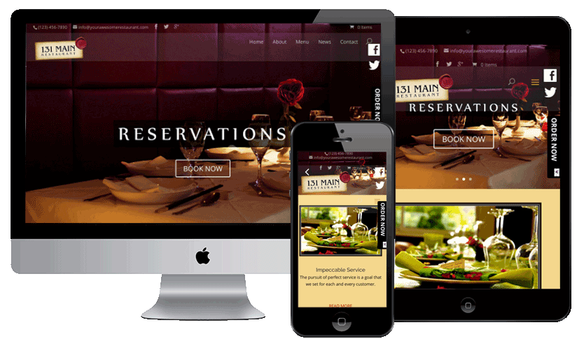 WEB5000 Responsive website with full-width video, Google Business View 360 virtual tour, Social Media integration, eCommerce and powerful Search Engine Optimization built in!